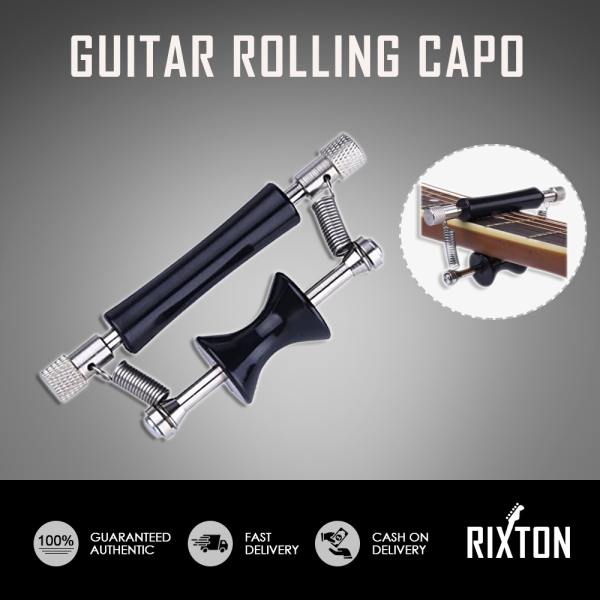 Guitar Rolling Glider Capo Portable Rolling Guitar Capo Easy Sliding Up and Down For Folk Classic Acoustic Guitars Malaysia