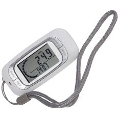 1pc White 3d Sensor Lcd Display Digital Running Pedometer With 7-Day Memory Step Calorie Distance Counter Health Tracker By Peas In Pod.