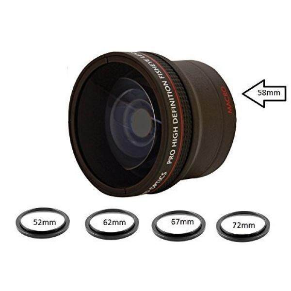 0.16X Ultra-Wide Fisheye Converter Lens w/ Macro Close-Up Attachment For Canon, Carl Zeiss, Fujifilm, Nikon, Panasonic, Pentax, Olympus, Samsung, Sigma, Sony, Tamron, Tokina Lens - intl