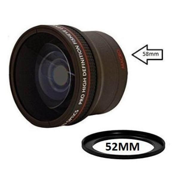 0.17X Ultra-Wide Konverter Mata Ikan Lensa W/Penutup Makro-Up Lampiran untuk Canon Carl Zeiss, Fujifilm, nikon, Panasonic, Pentax, Olympus Samsung, Sigma Sony, Tamron, Tokina Lensa-Intl