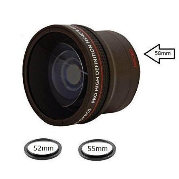 0.18X Ultra-Wide Konverter Mata Ikan Lensa W/Penutup Makro-Up Lampiran untuk Canon Carl Zeiss, Fujifilm, nikon, Panasonic, Pentax, Olympus Samsung, Sigma Sony, Tamron, Tokina Lensa-Intl