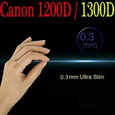 【0. 3mm】 Canon 1200D/1300D LCD Kaca Antigores Pelindung Layar, optik Kekerasan 9 H 0.3 Mm Ultra Tipis Kamera DSLR Kaca Kokoh untuk Canon 1200D/1300D