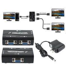 1 Pc to 2 Monitor 2 Port VGA Video Screen Splitter Box Adapter With Power Cable Malaysia