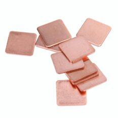 10 pcs 15mmx15mm 0.8mm Heatsink Copper Shim Thermal Pads Malaysia