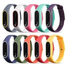 10 PCS Assorted Colors Fashion Silicone Colorful Replacement Wristband Strap Bracelet Smart Watch Band Accessories for Xiaomi Mi Band 2 Tracker