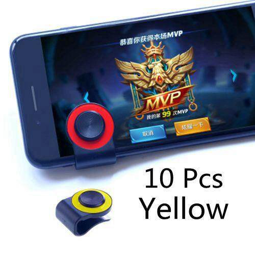 10 pcs Mobile Joystick Mini Universal Touch Screen Games Joystick Mobile Phone Thumb Stick Joysticks with Fixed Clip for Mobilephone Arcade Games - intl