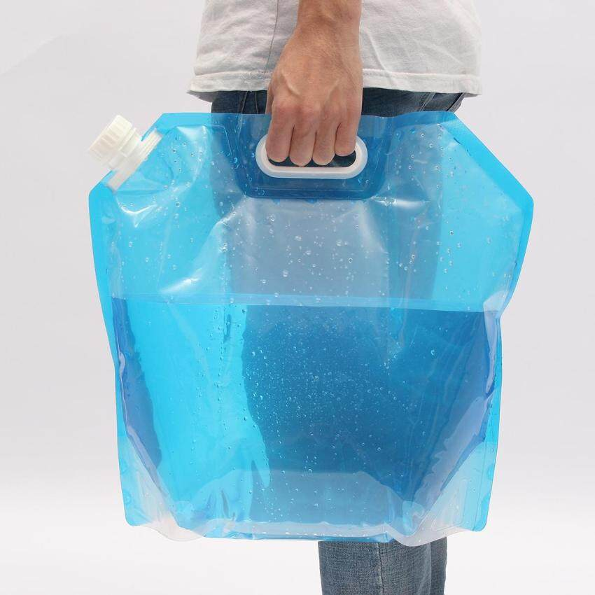 LIUBAO 10L Collapsible Camping Emergency Survival Water Storage Carrier Bag Supply By YxgF MALL