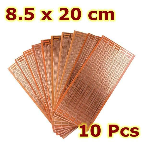 Giá 10 cái 8.5x20cm nguyên mẫu PCB tự làm bảng mạch in Matrix stripboard Universal-
