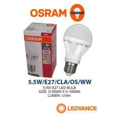 10PCS GENUINE OSRAM LED VALUE CLASSIC A 40 LED BULB 5.5W E27 170-250V WARM WHITE Malaysia