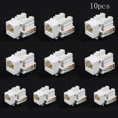 10X Cat5E 8P8C RJ45 LAN Network Ethernet Punch Down Keystone Socket Jack Coupler Malaysia