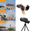 12 Magnification  Sports Hiking Telescope 12x50 Monocular Camp Travel Telescope for Cellphone Camera Lens with Tripod Universal Phone Stable Bracket