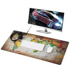 120cm X 60cm Ultra Large Anti-Flip Rubber Soft Textile Gaming Mouse Pad (World Map) Malaysia