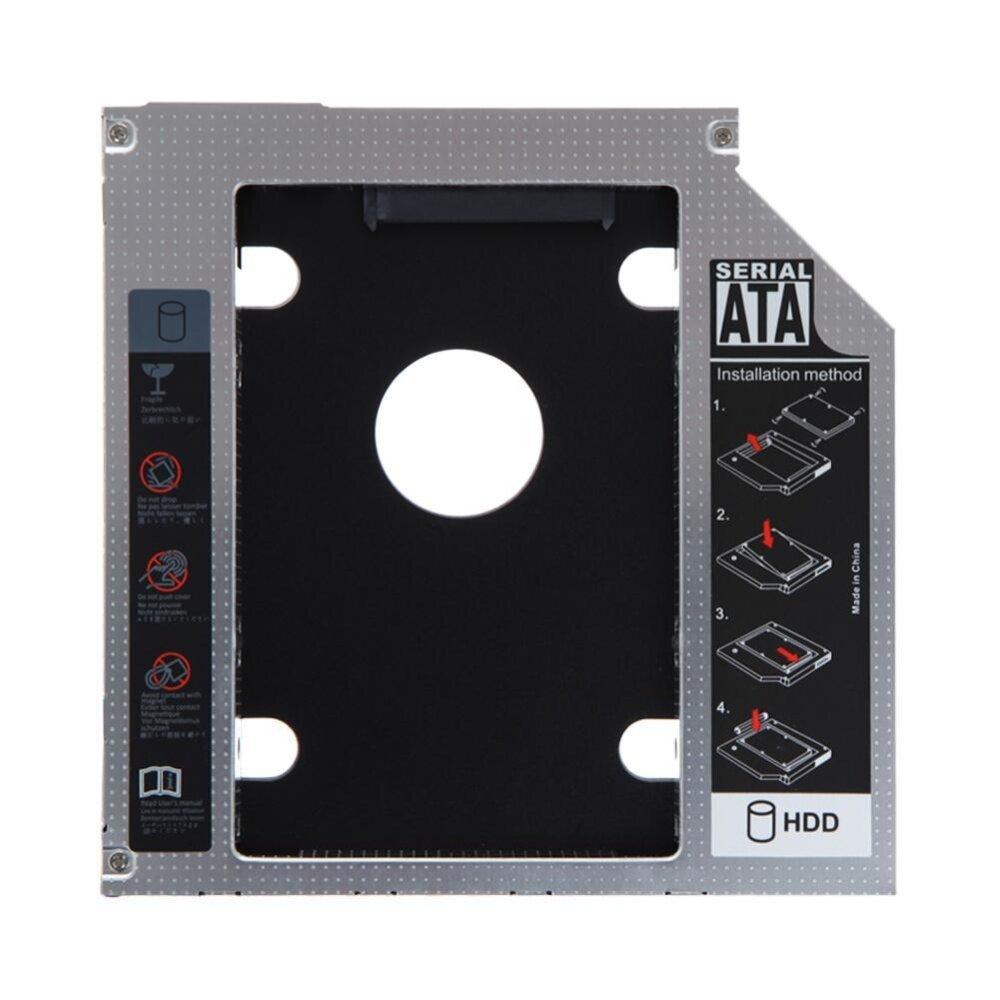 12.7mm SATA HDD SSD Hard Drive Caddy Optical DVD Bay Adapter  -  intl