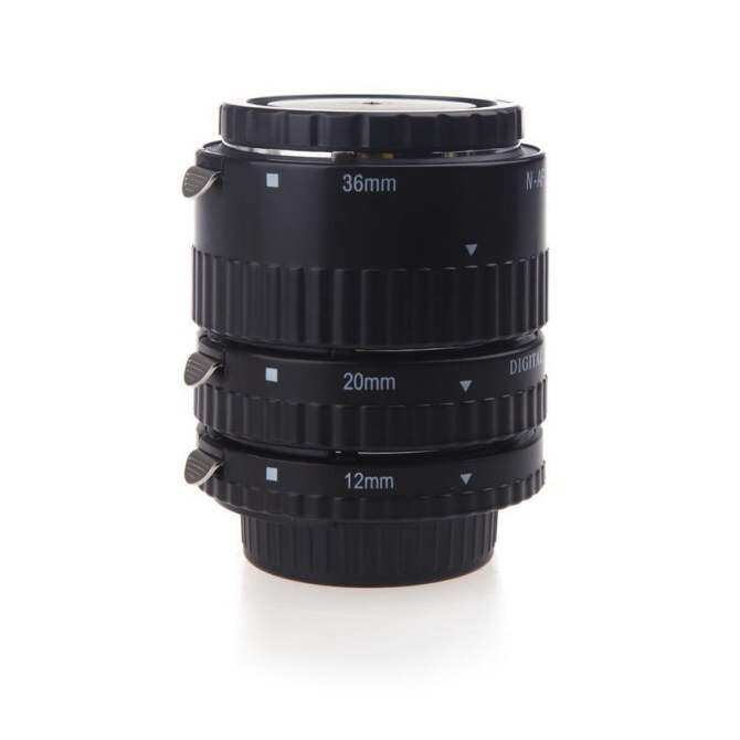12mm 20mm 36mm Auto Focus Macro Extension Tube Set for SLRCameras/Nikkor AF AF-S D G/VR Lens Series