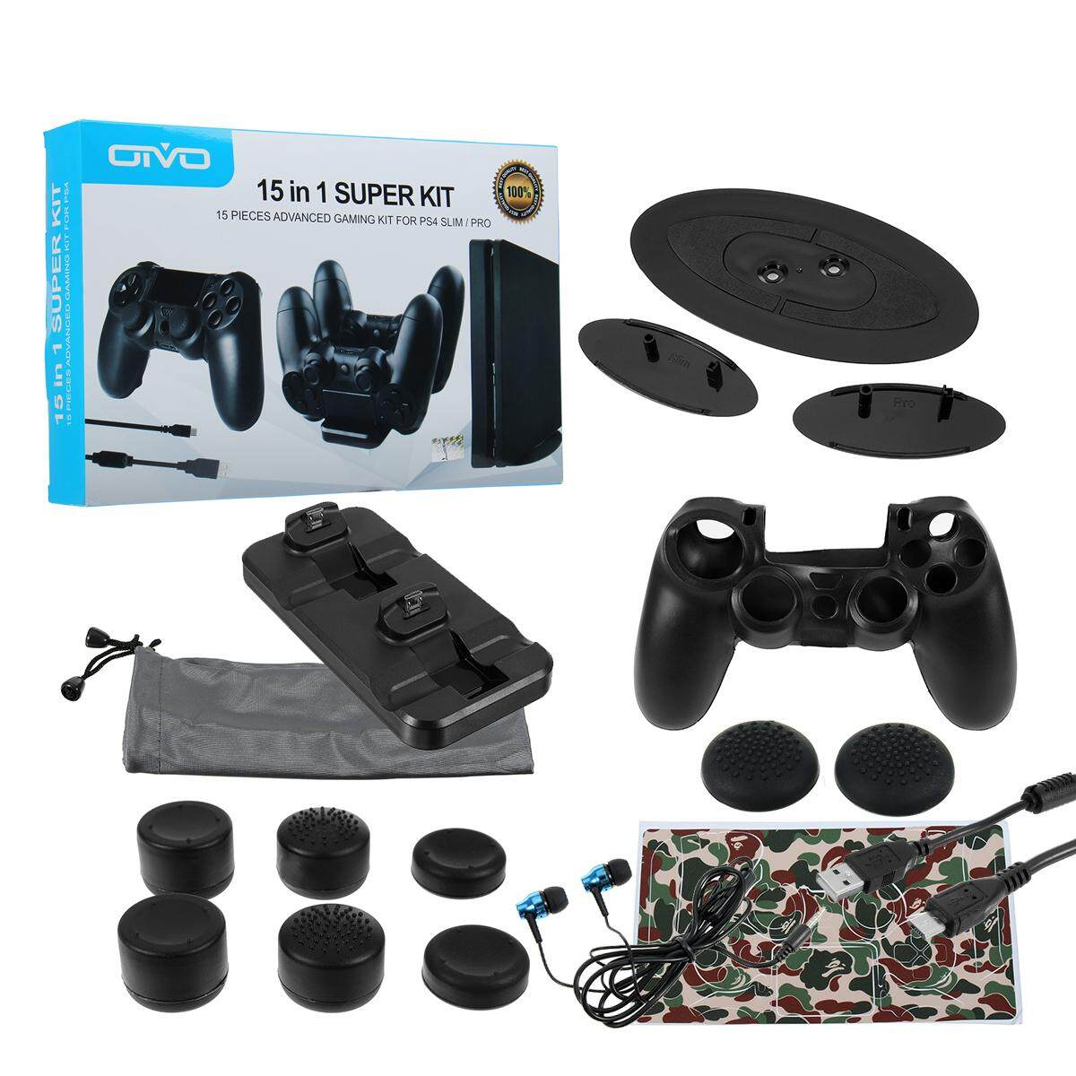 15 In 1 15 Pieces Advanced Gaming Kit For Ps4 Slim/pro - intl