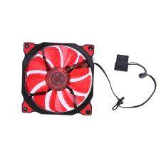 15 LED Lights Clear 120mm Quiet PC Case Cooling Fan(Red) Malaysia