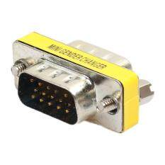15 Pin VGA SVGA Gender Changer Adaptor Connector Coupler Male To Female Malaysia