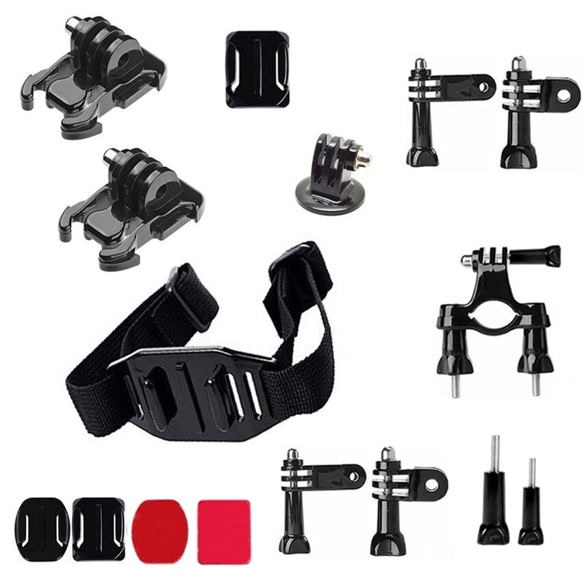 16 in 1 Accessories Kit with Handlebar Mount. Helmet Mount StrapforGoPro Hero 4/3+/3/2/1 SJ4000/5000/6000/Xiaomi Yi XIN CX 2502 - intl