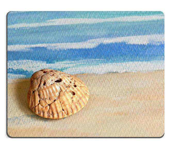 17P03447 High-quality creativity Mousepad Gaming Mouse Pad Seashell  on painted texture (size:300*200*3mm)
