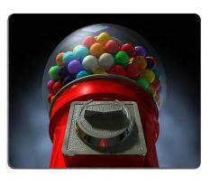 17P04612 High-quality creativity Mousepad Gaming Mouse Pad A regular red vintage gumball dispenser machine (200*180*3mm) Malaysia