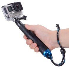 19 Waterproof Hand Grip Adjustable Extension Selfie Stick Handheld Monopod For Geekpro / Gopro Hd Hero 7 6 5 4 3+ 3 Sj4000 Sj5000 Xiaomi Yi (with Wrist Strap And Screw) By Sumfree.