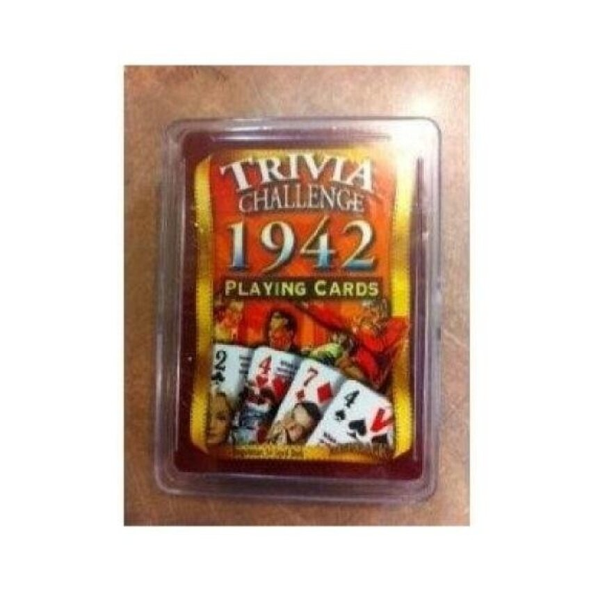 1942 Trivia Playing Cards - intl