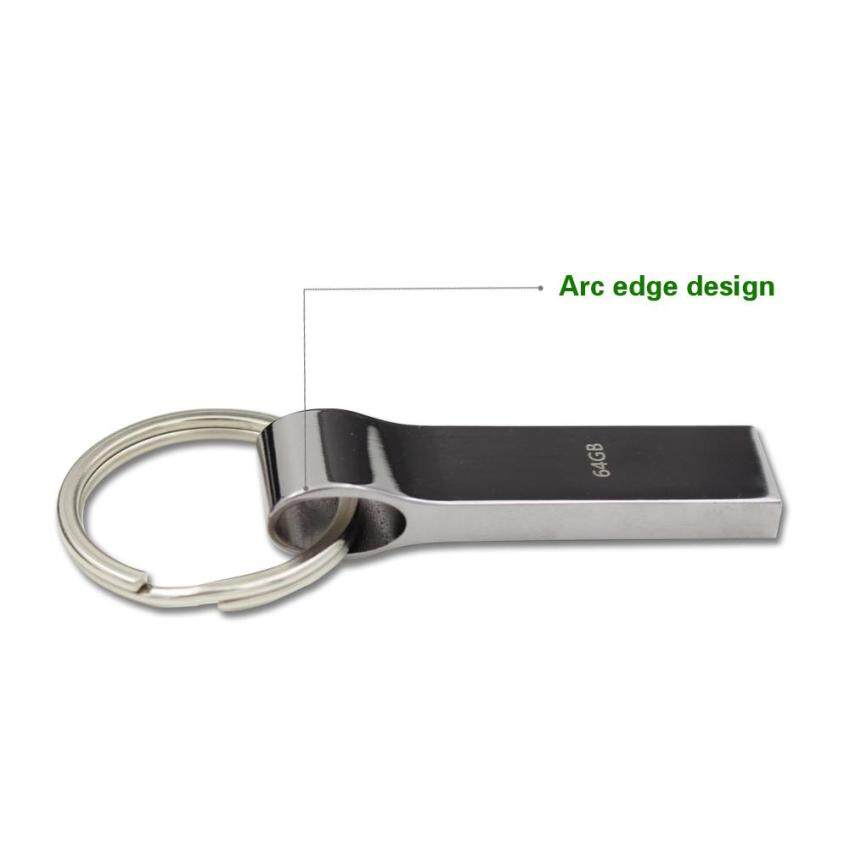 ... 128GB Metal Usb Flash Drive Waterproof Pen Drive with Key Chain High speed 2 0 Memory