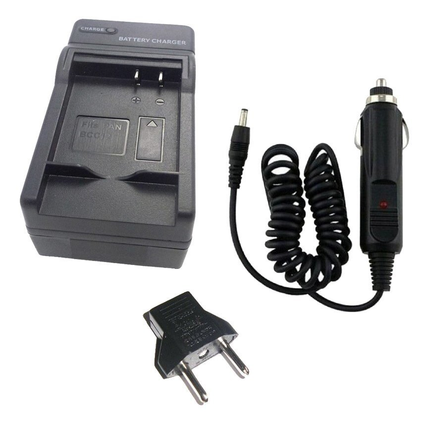 2-in-1 Home / Car Charger for Panasonic BCC12/S005 Battery   - intl