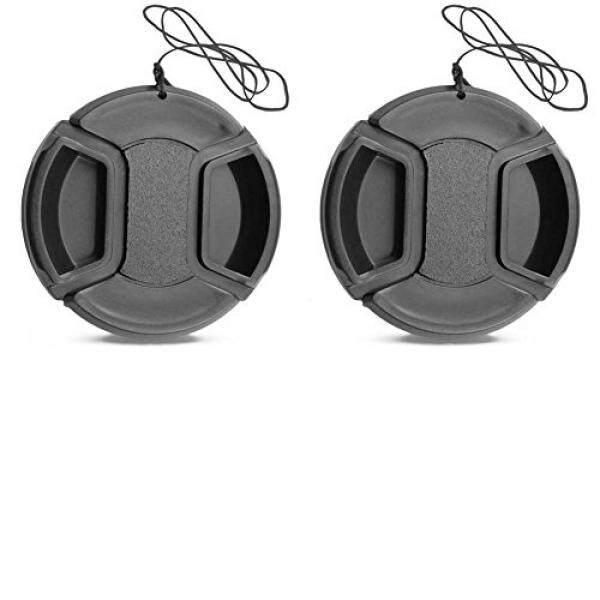 2 Pack 40.5 Mm Pusat Pinch Tutup Lensa untuk A6000 A6500 NEX-6/6L E-Gunung 16-50 Mm F3.5-5.6 lensa/Nikon 1 10-30 Mm, 30-110 Mm, 10 Lensa 20 Mm/Olympus 14-42 Mm F/3.5-5.6 Zuiko Lensa-Intl