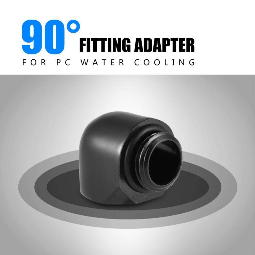 2 pcs 90 Degree Fitting Adapter G1/4 Thread for PC Water Cooling System(Male to Female)