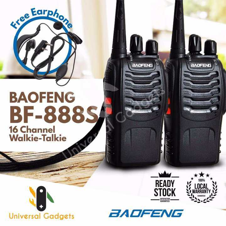 2 units BaoFeng BF-888S BF888s BF 888 / BF 888S 16 Channel Walkie Talkie Set UHF 5W + FREE Earphone (2pcs)