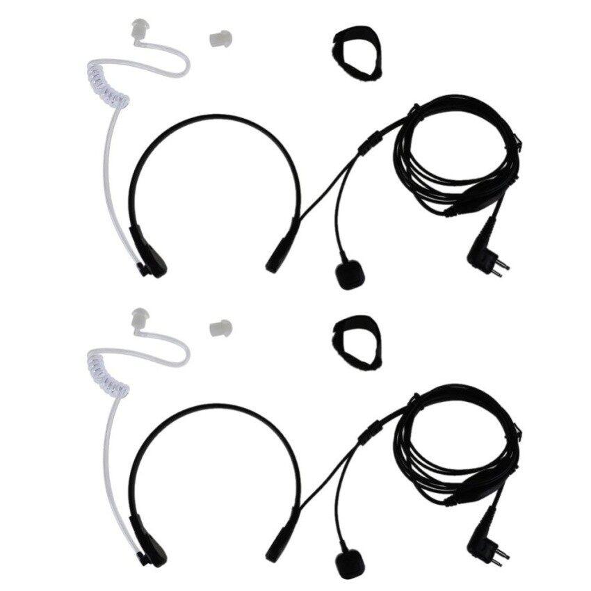 2X PTT 2Pin Throat Mikrofon Terselubung Akustik Tabung Lubang Suara Headset Forbaofeng 5R-InternasionalIDR274000.