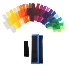 20 Color Photographic Gels Lighting Filter for Canon/ Nikon/ Oloong/ Yongnuo FLash/ Speedlite