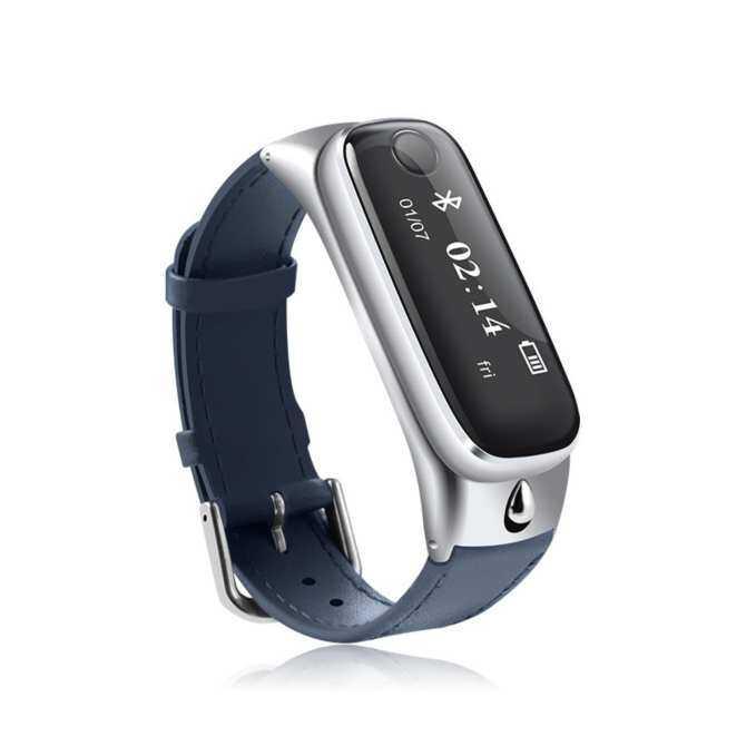 2017 Bluetooth Smartwatch dengan Headphone Bluetooth Pedometersmartwatch untuk iPhone 6 S Huawei P8 Lite Jam Tangan Pintar Android-Intl
