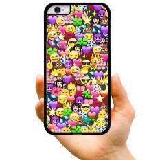 2017 Mode Terkini Penjualan Terlaris Gaya Kartun Lucu Emoji Muka Tersenyum Ekspresi Pack Kreatif Plastik Keras Berpola Casing Ponsel untuk Oppo R9s (Aneka Warna)