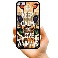 2017 New Fashion Hot Sale Style KEEP CALM AND LOVE ANIMALS Creative Pattern Hard Plastic Phone