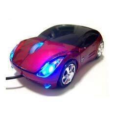 2017 New style elegant car USB  photoelectricity wired Mouse (red) Malaysia