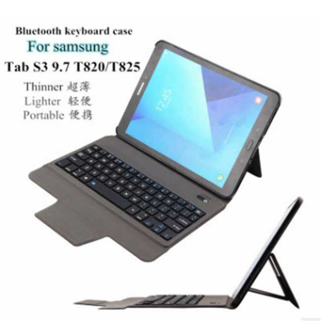 2017 Baru Ultra Tipis Ringan Bluetooth Keyboard Kasus untuk Samsung Tab S3 9.7 T820/T825 (Hanya 0.4 Cm) -Internasional