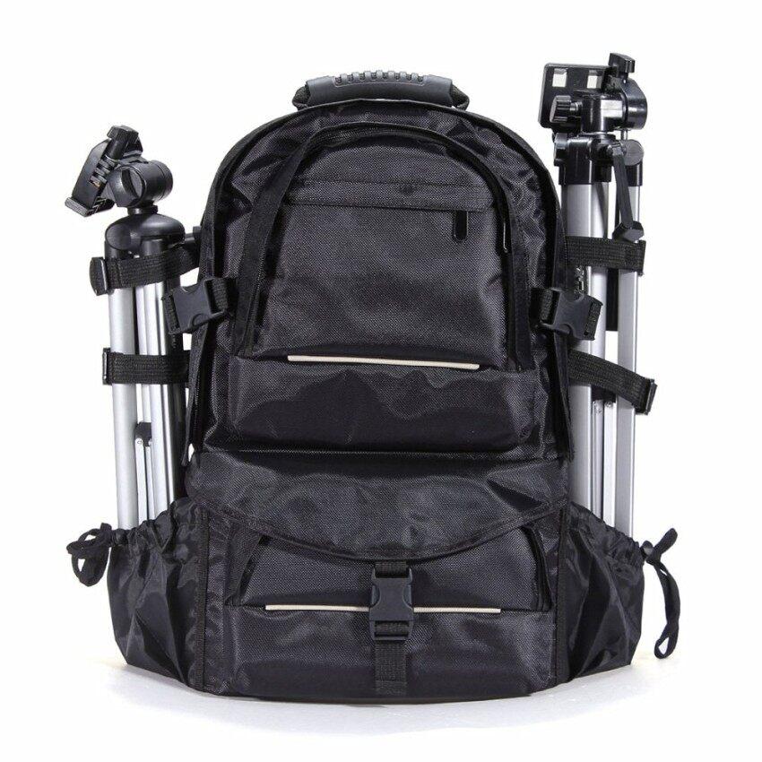 2018 Seksi Penjualan Baru Tahan Guncangan Luar Ruangan Tas Ransel Kamera DSLR untuk Canon Nikon + Hujan Sarung (HITAM) -Internasional