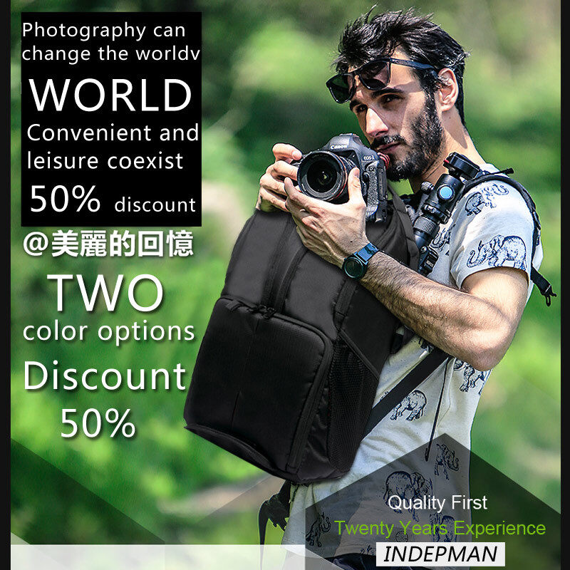 2018 Hot Sale New Waterproof Shockproof DSLR Camera Bag Photography Video Backpack Leisure Shoulder Bag Digital Camera Case for Nikon Canon Sony Pentax Sony Camera