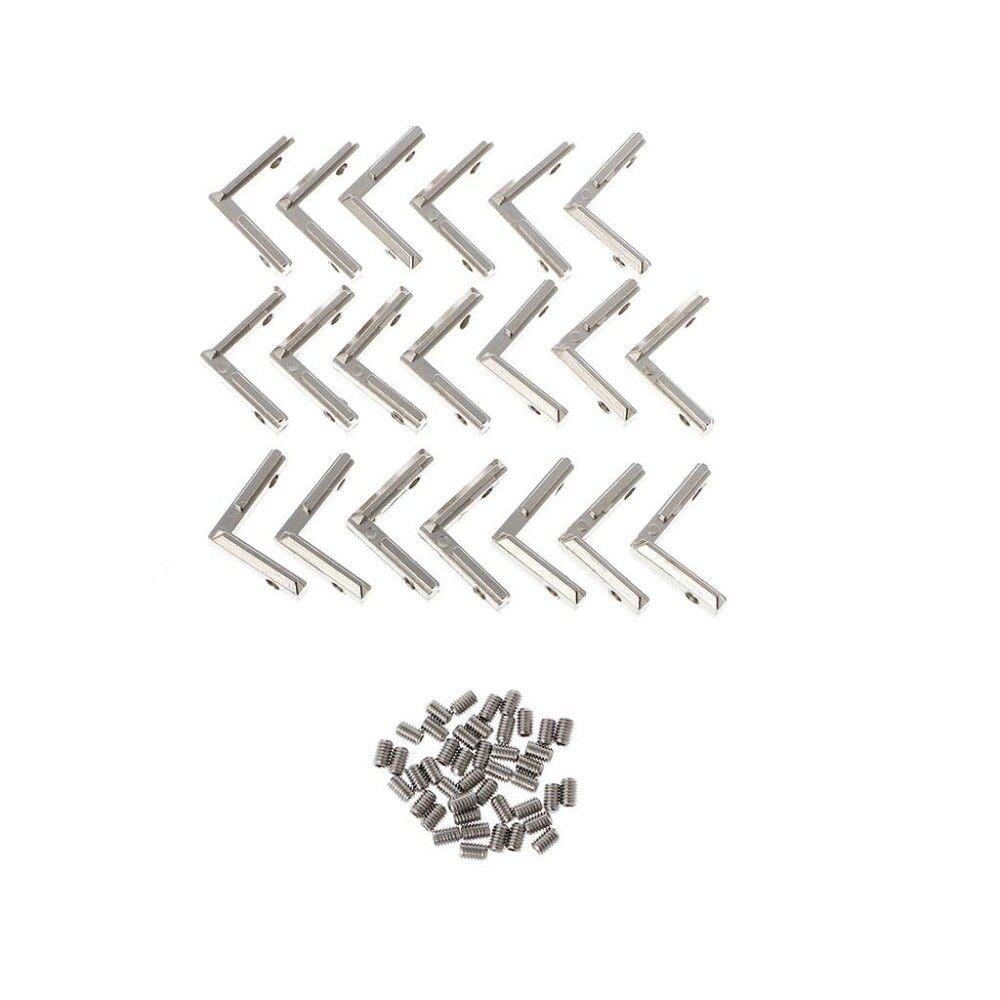 20Pcs T Slot L Shape 2020 Aluminum Profile Corner Connector For 3D Printer With Screws Intl Promo Code
