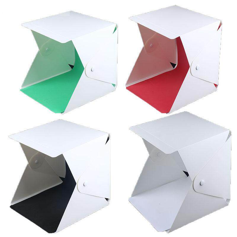 Get Cheap 23Cm 23Cm Mini Folding Softbox Studio Portable Photography Desktop Led Light Photo Soft Box Built In Button 4Color Background Intl