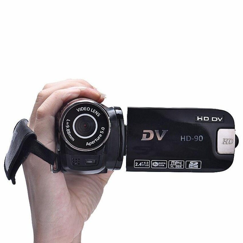 2.4 Inch 12M 4X Digital Zoom Video Camera Black