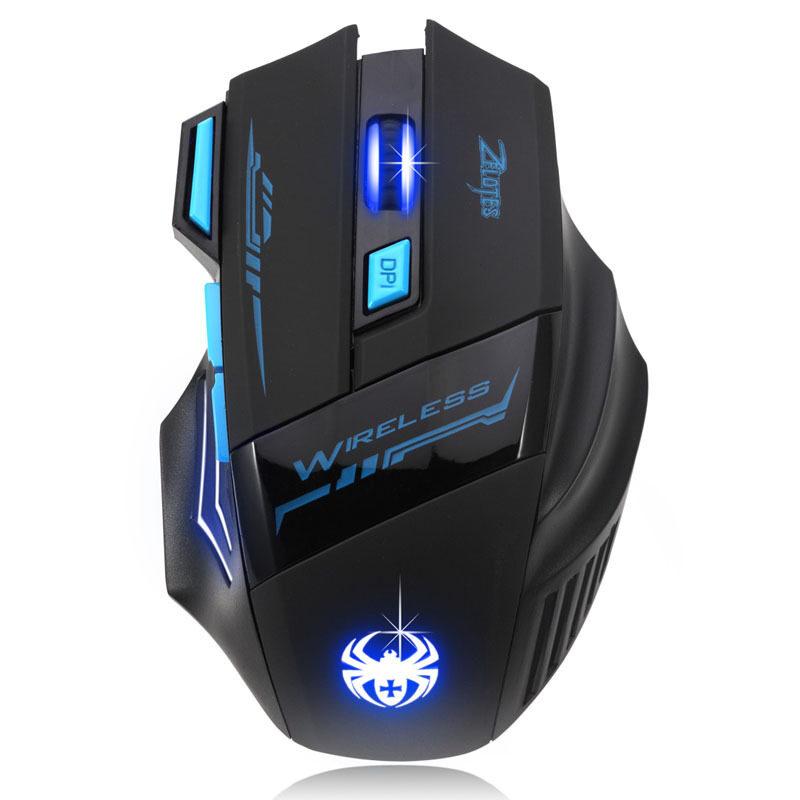 Evercute 2400 Dpi Permainan Nirkabel Mouse (Hitam)-Internasional