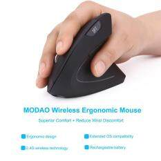 2.4G Wireless Vertical Ergonomic Optical Mouse 800 / 1200 /1600DPI 5 Buttons BK Malaysia