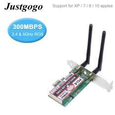 Justgogo 2.4g/5g 300mbps Wireless Wifi Extender Pci-E Dual Band Ap Wlan Adapter By Justgogo.