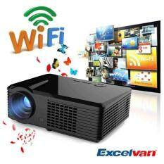 2500 Lumens Android 4.4.2 WIFI HD 1080P LED AV HDMI TV Home Theater Projector