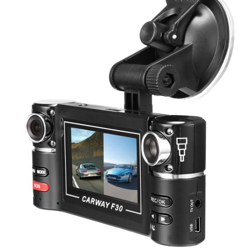 2.7 F30 HD Dual Camera Lens Car Vehicle DVR Cam Dash Video Recorder8 IR Lights SOS With Night Vision - intl