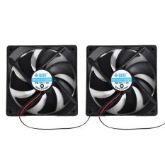 2pcs 120mm 120x25mm 12V 4Pin DC  Brushless PC Computer Case Cooling Fan(Black Not Specified) Malaysia