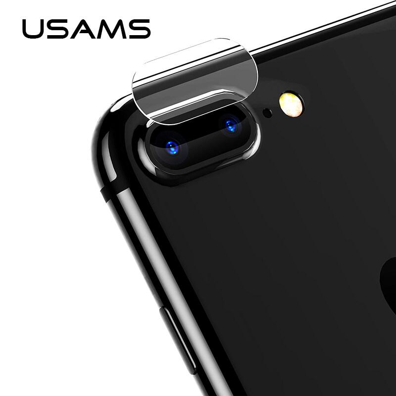 Rui He 2 Pcs untuk iPhone 7 Plus USAMS Kamera Lensa Layar Pelindung Kaca Temper Film 9 H Corning Gorila kaca Menggaruk Tahan Len Sarung-Internasional